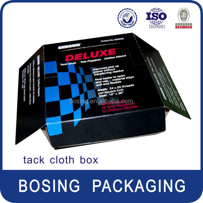 2015 tack cloth box for 12 piece