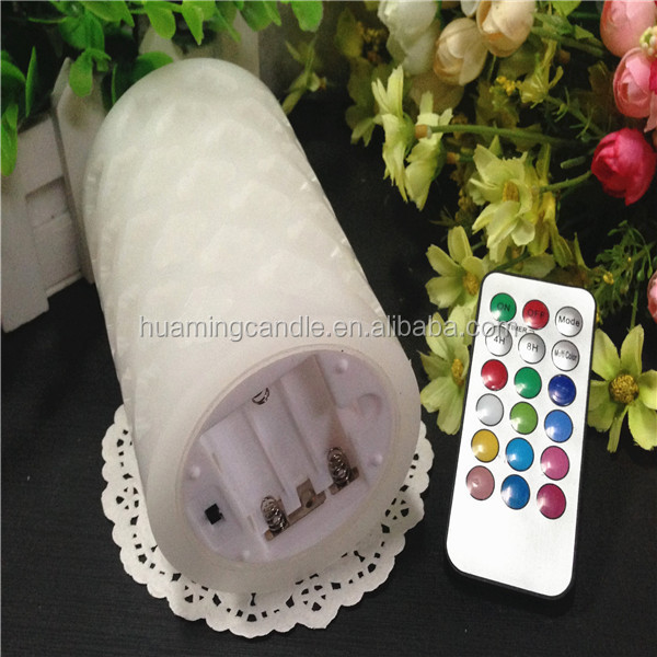 Paraffin Wax Material and Yes Handmade flameless moving wick led candle