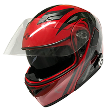 DOT certified Helmet flip up Modular Helmet motorcycle BT 4.1+EDR Intercom Helmet with sun shield+with FM radio