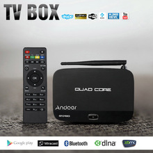 Andoer F7 Android 4.4 TV Box RK3128 Quad-Core Inteligente Set Top Box 1G/8G 1080 P Mini PC 3D Kodi XBMC Miracast DLNA WiFi Media Player