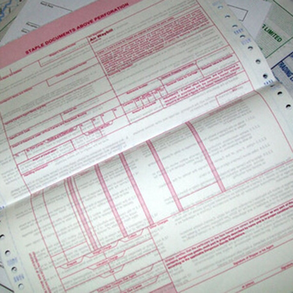 sample delivery courier receipt printing