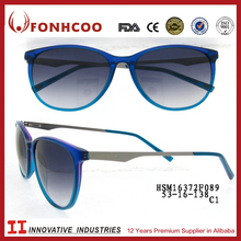 FONHCOO Factories 2016 Bulk Buy Latest Uv400 Blue Frame Metal Sunglasses