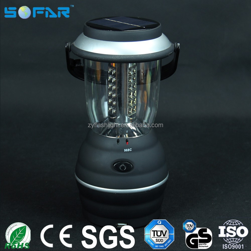 36 led portable led camping light ABS solar multi-functional camping lantern