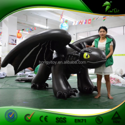 China Supplier Customeized Newest Sex Inflatable Dragon Suit / Black Inflatable Toothless Dragon Costume Toys For Man