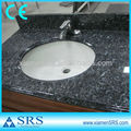 Blue pearl granite vanity top with undermount sink