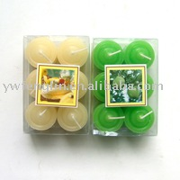 tealight candle 6 pieces per pvc box