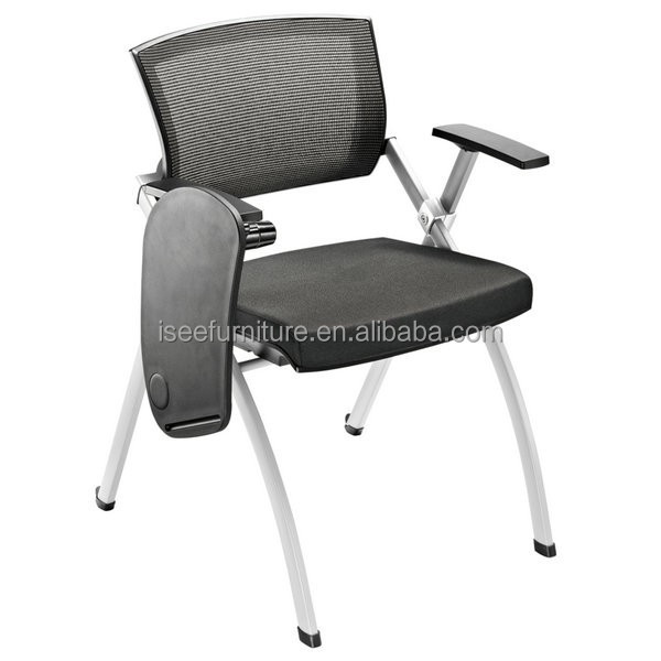 Training Room Aluminium Folding Conference Chair With Writing