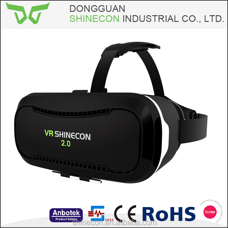 Best Selling Products 2016 New Arrival 3D VR VR Adjustable Box 2.0 OEM Custom LOGO virtual reality helmet