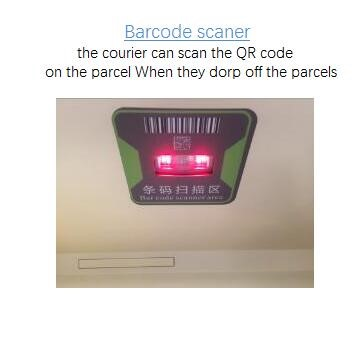 electronic parcel box, postal parcel delivery locker