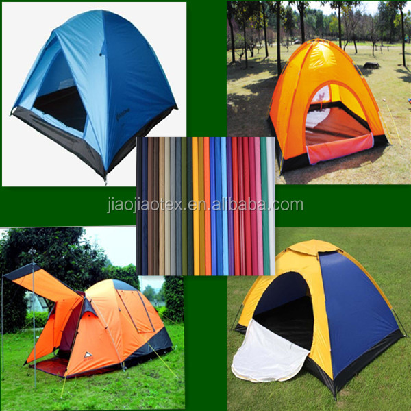 Hot sale 190t polyester taffeta tent fabric with waterproof PU Coating