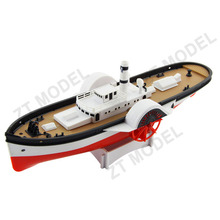 Strong Bow Paddle Wheel Electric Powered Plastic Model Boat Kits