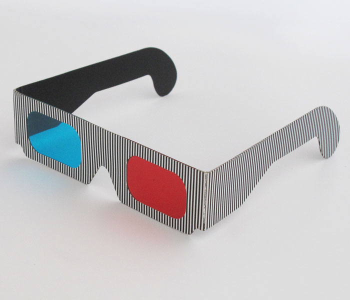 2017 new arrivals red cyan 3d eye cardboard glass manufacture china