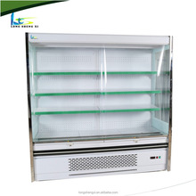 Air curtain display supermarket chiller for fruit and vegetable