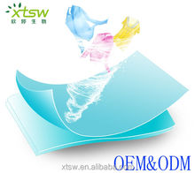 Laundry Detergent sheet more convenient and deep cleaner than detergent powder/liquid type