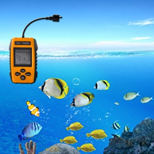 Wholesale price in stock Portable Wired Fish Finder with Sonar Sensor Transducer and LCD Dispaly