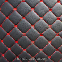 High quality car seat microfiber pu leather with sponge backing
