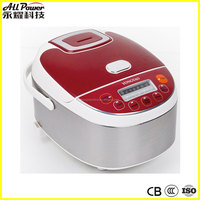 3L square shape led display stainless steel multi rice cooker