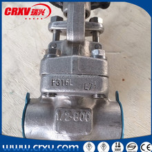 Industrial Oil Gas Forged Steel Gate Valve Stainless Steel F316L 800LB 1""
