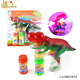 Hot dinosaur blowing toys with bubbles water,electric soap bubble gun toys