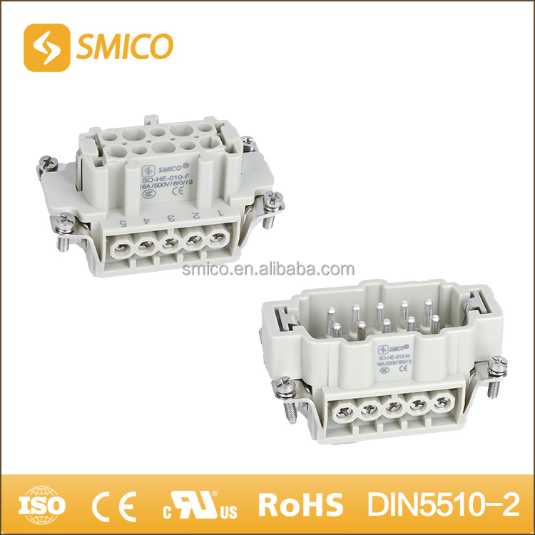 03101010100 HE-010 03101010200 10 pin male and female connector plug connectors for thermostat