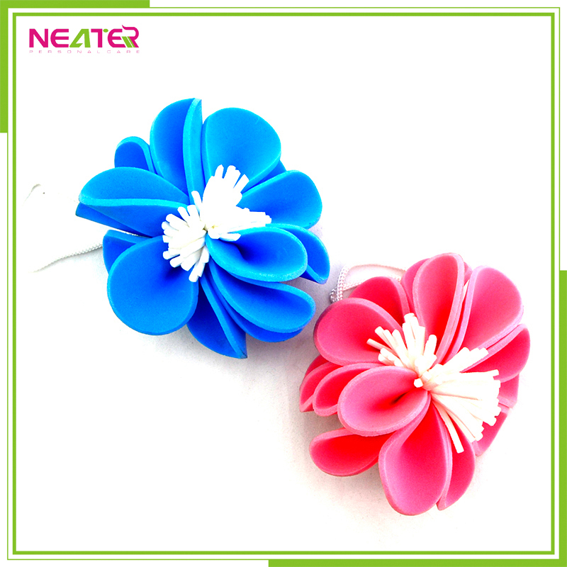 Promotional Shower Puff with Flower Bath Ball for Body Cleaning