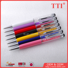New Premium crystal metal twist ball-point pens with touch function metal stylus touch pen