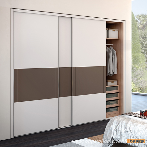 Modern Latest Double Color Lacquer Wardrobes Furniture