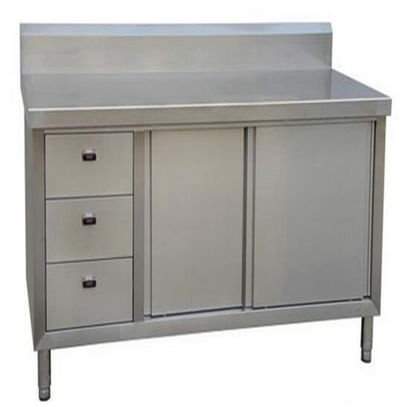 Restaurant stainless steel cabinet commercial used for Stainless steel kitchen cabinet price