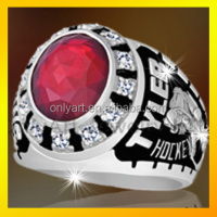 Red onyx setting rings custom college class rings