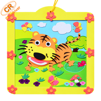 OEM High Quality Animal DIY EVA Photo Frame For Kids