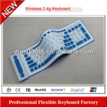 2.4g flexible silicon mini wireless keyboard air mouse