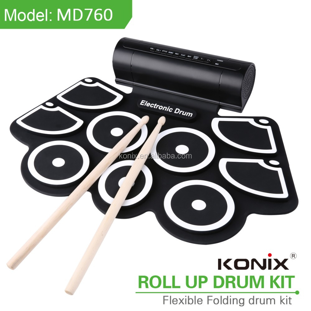 New Music Instrument USB Drum Kit Roll Up Silcone MIDI Drum Kit Educational Kit for Kids