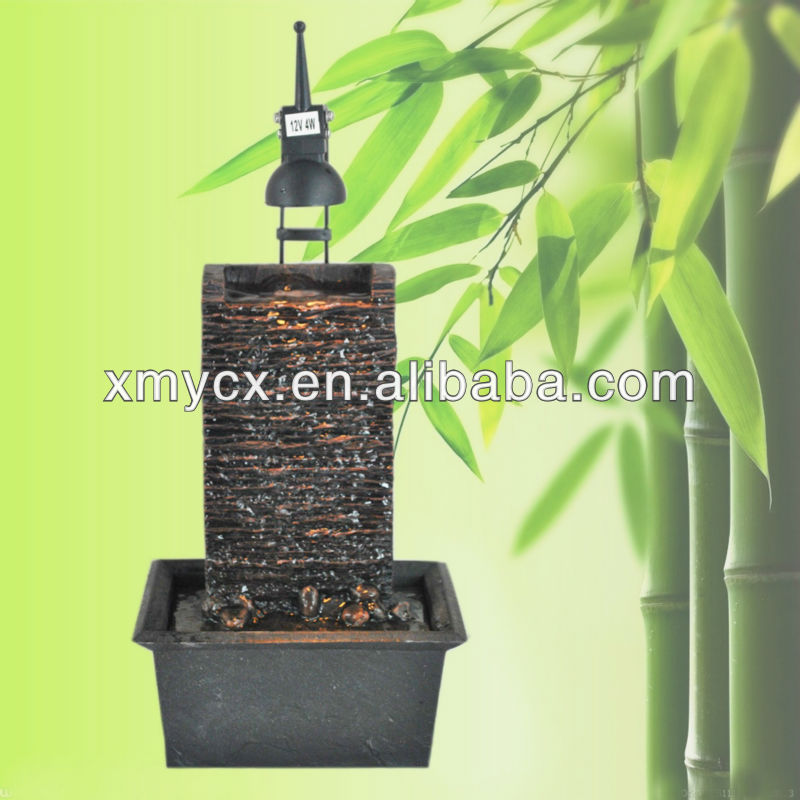 Resin battery operated indoor water fountain
