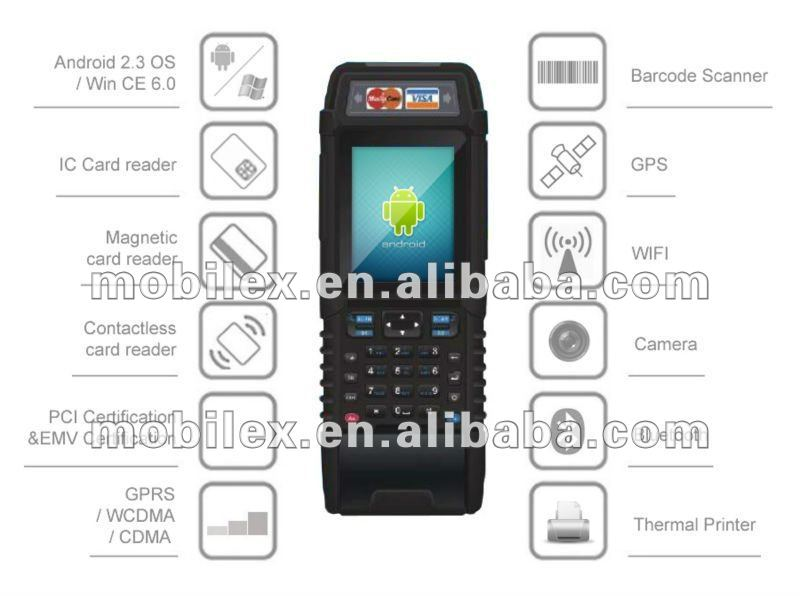 Rugged Handheld Android PCI/EMV certified POS terminal(MX9800)