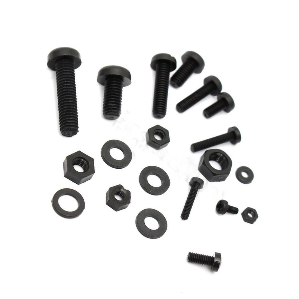 Promotion! 150Pcs M2 M2.5 M3 M4 M5 Nylon Hex Screw Bolt Nut Standoff Spacer Assortment Kit Black