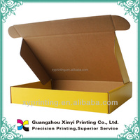 Folded & flat packed corrugated paper clam shell box