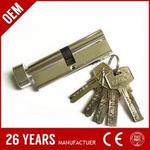 google hot selling aluminium anti-drill double side open dom key cylinder with low price