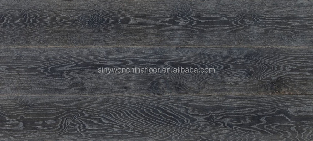 Prefinished 15/4x190x1900mm Grey stained Oak Engineered Flooring