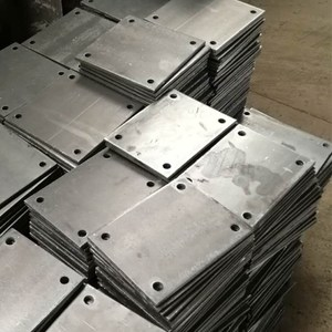 hot rolled plasma cutting carbon steel plate part with holes