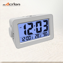 phone charger alarm clock with USB charge port manufacturer with rotary button