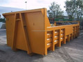 Outdoor steel roll on roll off hook lifting waste bin