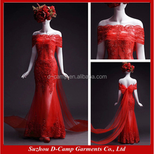 WD051 Sexy see through memraid moroccan red wedding dresses for sale online