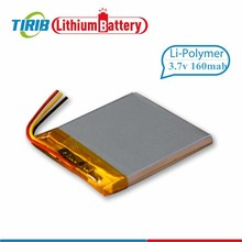 Super Thin 3.7V 160mAh Rechargeable Li Polymer Battery for Digital Photo Frame