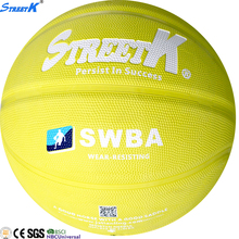 2017 wholesale factory directly mini butyl rubber basketball ball toy yellow rubber ball