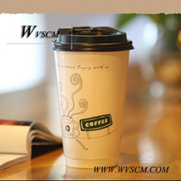 High Quality Disposable Takeaway 8oz coffee Paper Cup With Lid covers