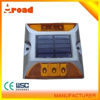 Hot sale high quality aluminum material wholesale solar powered road reflector