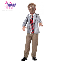Factory price custom dressing up for the carnival theme kids scary zombie worker cosplay costumes for sale uk