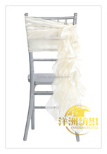 wholesale Nice cheap organza TAFFETA wedding ruffled curly chair sash Chiavari Chair Covers For Weddings