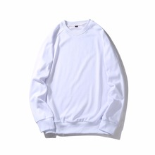 Crewneck 100% cotton plain blank pullover hoodie french terry cloth hoodies