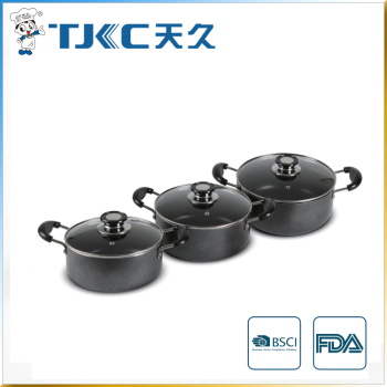 Non-stick Sauce Pot with Powder Coating and Strong Handles